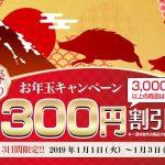 【期間限定】毎年恒例◆新春初売り!お年玉キャンペーン♪